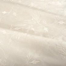 Embroidered Thai Silk - Cream