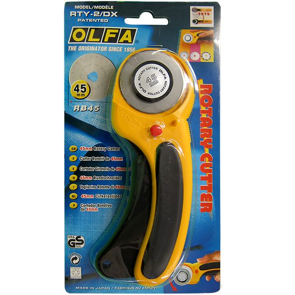 OLFA 45mm Deluxe Ergonomic Rotary Cutter (RTY-2/DX)