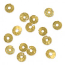 Paillettes Gold, 3mm, .5g packet