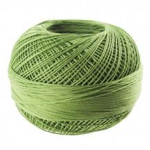 im-cotton_yarn_Lizbeth_size_40_Medium_Leaf_Green_n°684_x274m