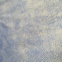 spotted blue fabric