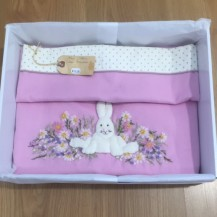 rabbit applique blanket