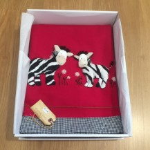 zebra applique blanket
