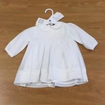 ivory rosette dress front