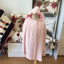 pink knit cape