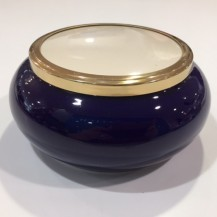 large ceramic pot blue