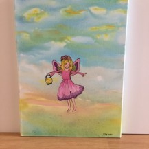 fairy with lantern canvas