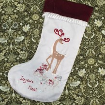 reindeer noel stocking