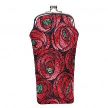 Rose and Teardrop Glass Pouch Bag